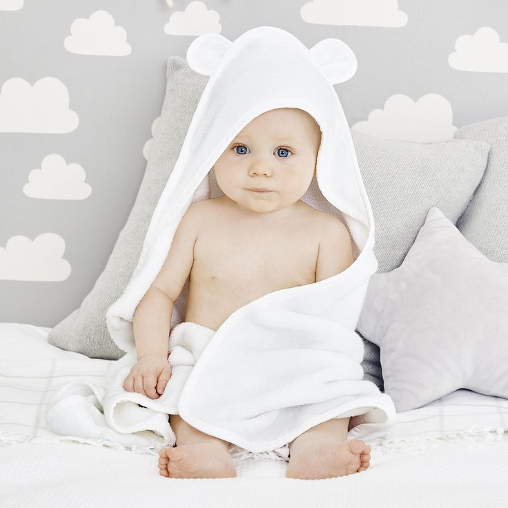 Hydrocotton Baby Towel | Bathtime | Childrens' Bedroom | The Little White Company | The White Company UK