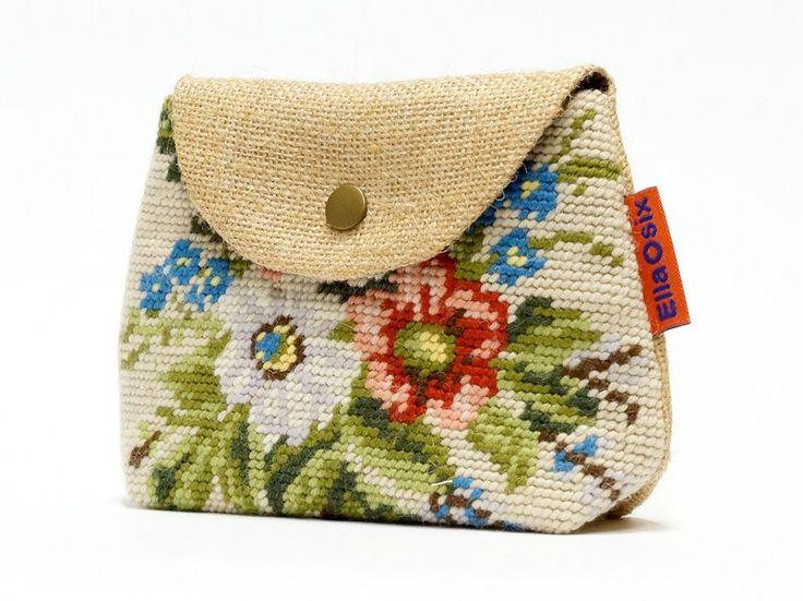 Vintage Needlepoint Makeup bag from EllaOsix by DaWanda.com