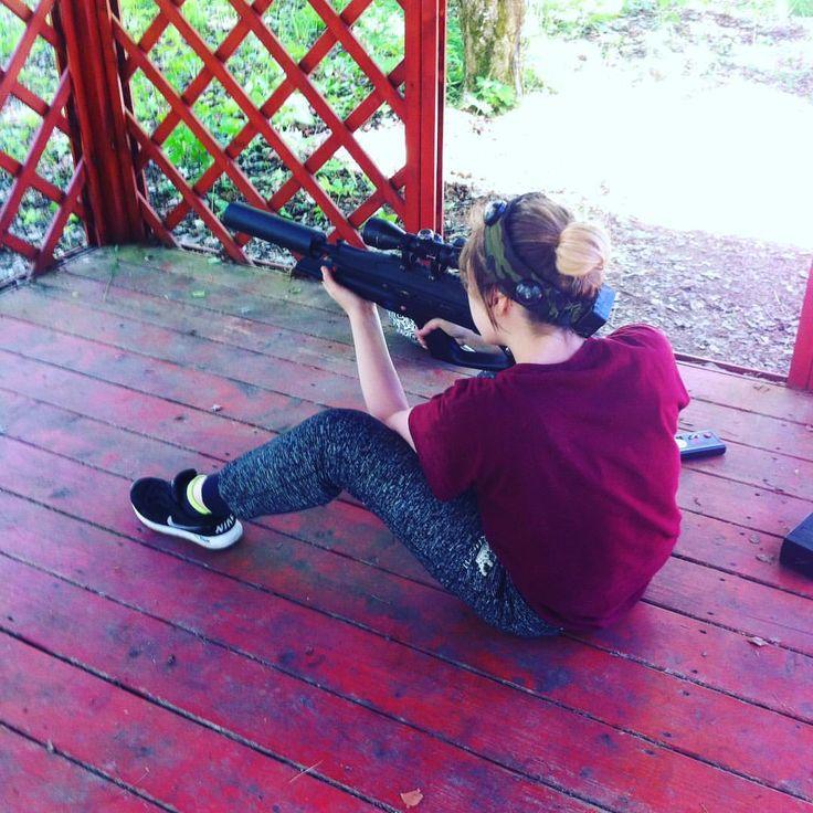 Ира - снайпер :) #лазертаг #детскийлагерь