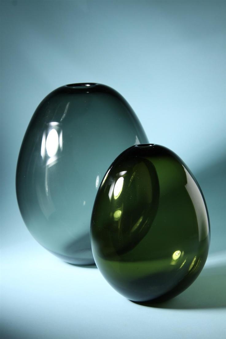 "Kaj Franck ""Soap Bubble"" vases for Nuutajarvi."