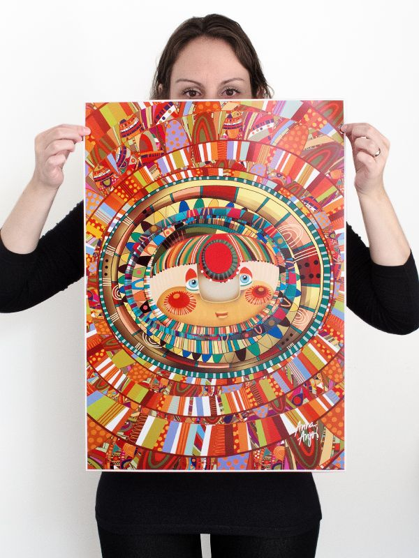 """Poster """"Afrotropical"""", 600mm x 420mm, semiglossy paper 190g. For sale at: www.annaesoma.tanlup.com"""