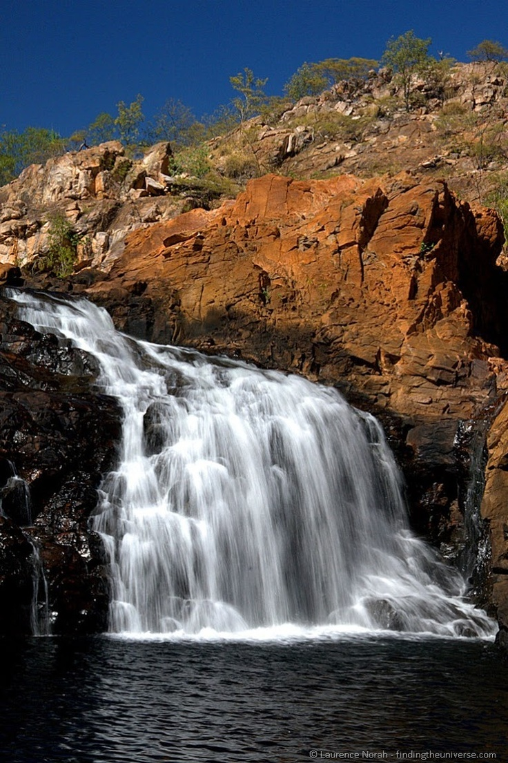 Edith Falls in Australia's northern territory: http://www.findingtheuniverse.com/2012/10/travelpinspiration-waterfalls.html