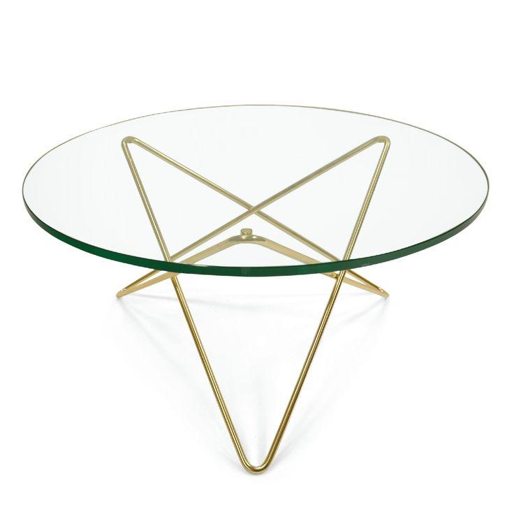 O soffbord, glas/mässing i gruppen Möbler / Bord / Soffbord hos RUM21.se (1024844)
