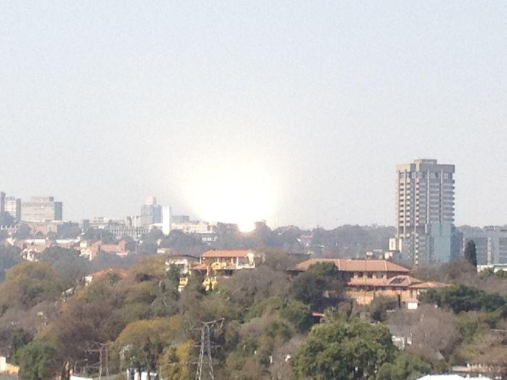 Sun reflecting of the Diagonal street glass building