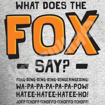 Koszulka.tv - Śmieszne koszulki z nadrukiem » What does the fox say