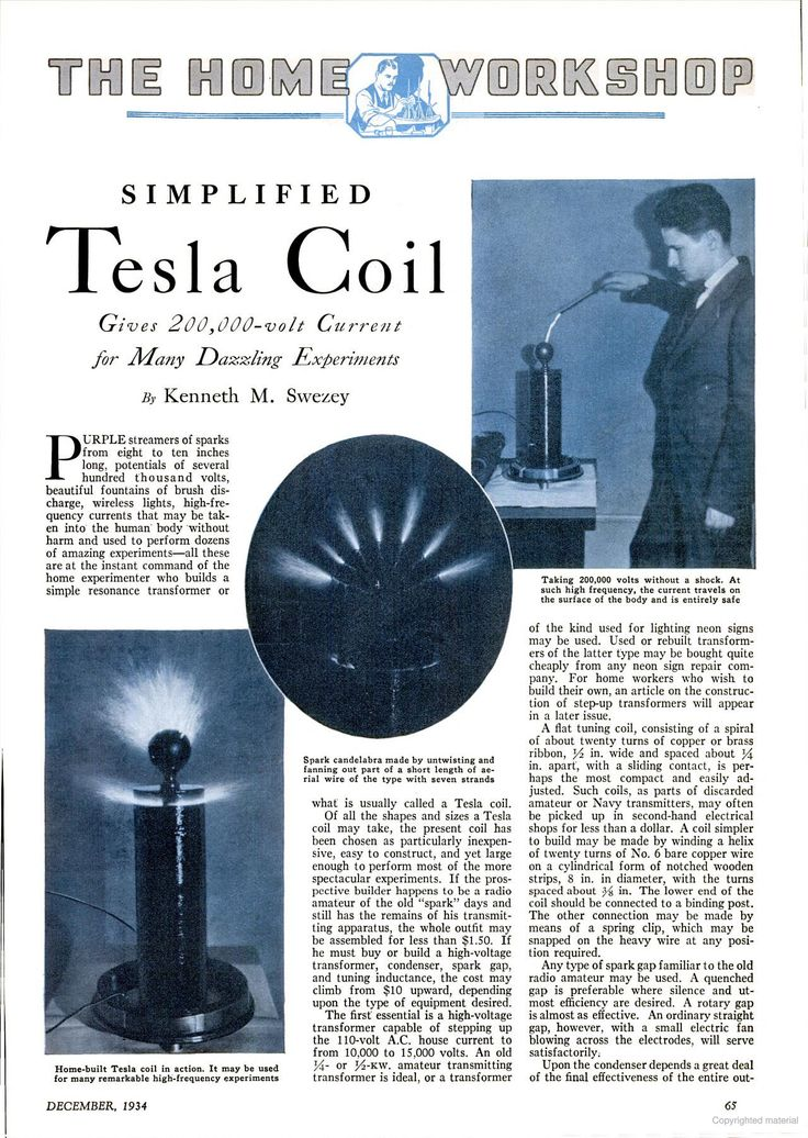 how to make tesla coil in home