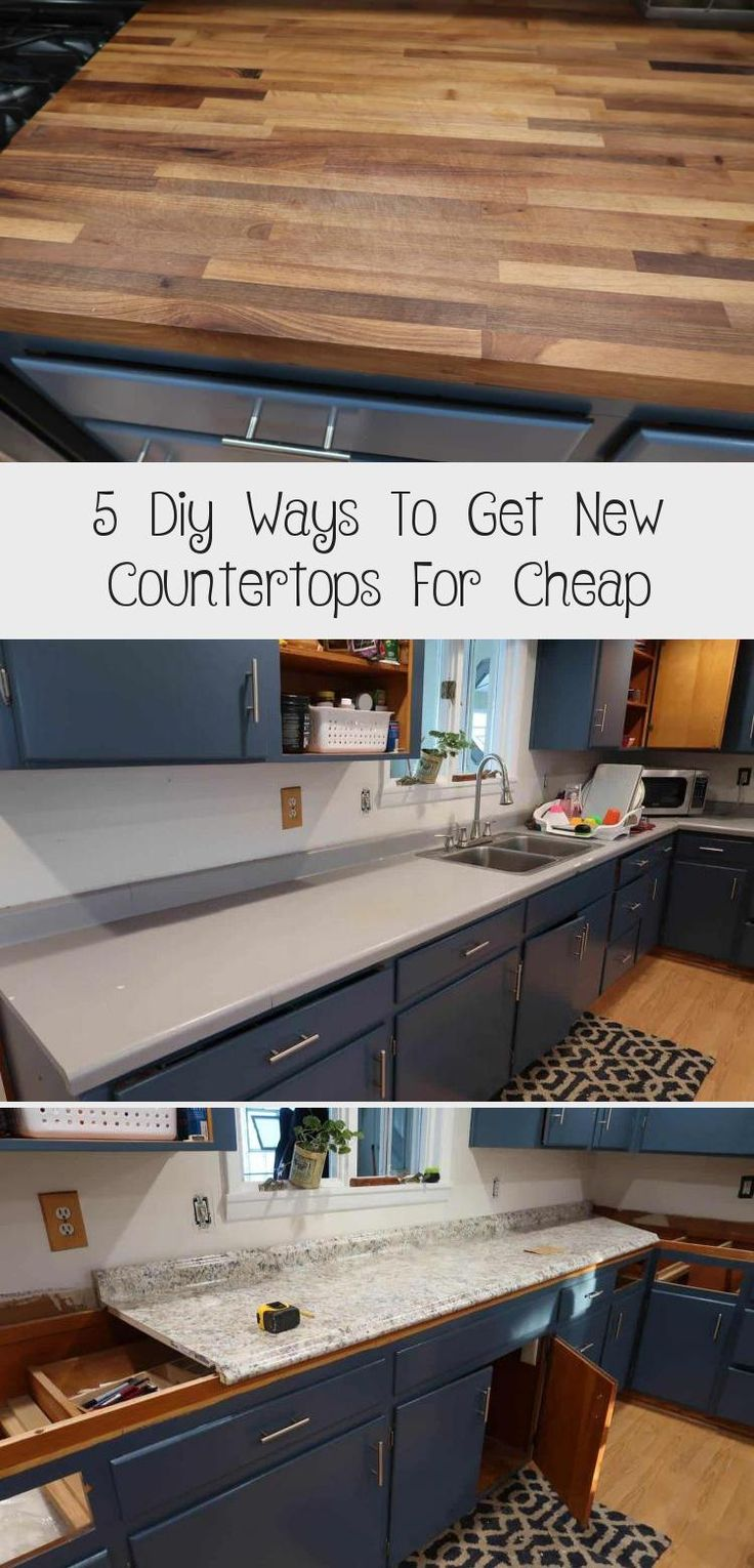 5 Diy Ways To Get New Countertops For Cheap New Countertops Countertops Cheap Countertops