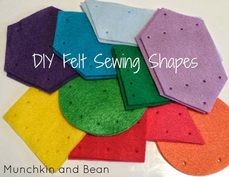 Munchkin and Bean: DIY Felt Sewing Shapes