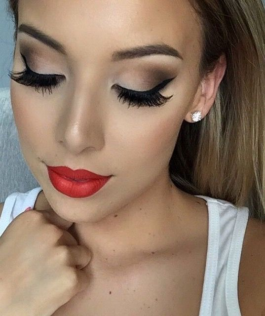 Prom Makeup Looks Red Lips Hairsjdi Org