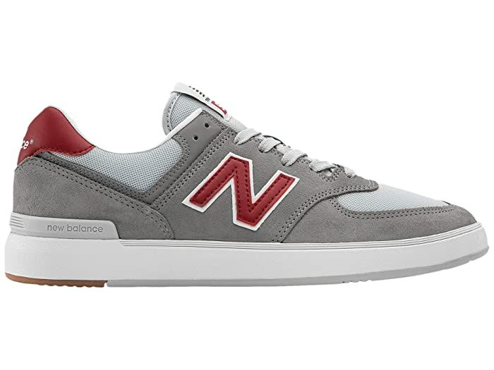 Salto cinta vendedor  New Balance Numeric AM574 (Grey/Red) Skate Shoes A tried-and-true style  meets skate-ready performance with the New … in 2020 | New balance, Skate  shoes, New balance sneaker