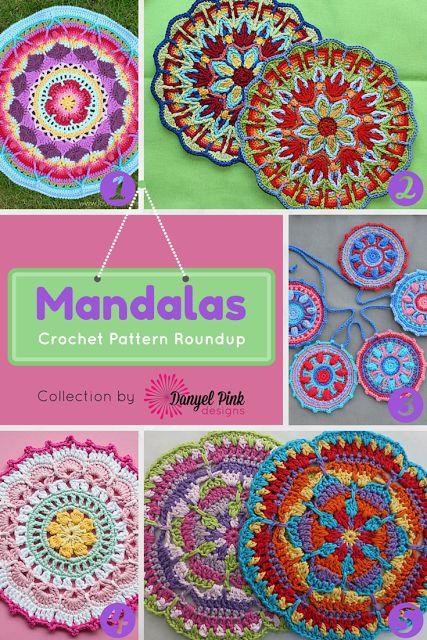 Danyel Pink Designs: 5 patrones de ganchillo para Mandalas