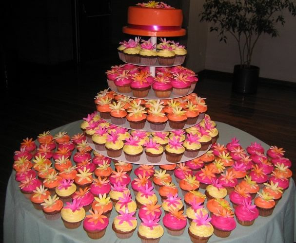LOVE the idea of cupcakes instead of a cake.