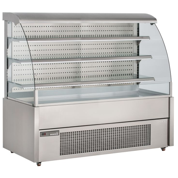 Perfect for maximising impulse sales of chilled food and drink, the FDC 1200 is a best-in-class open front self-service display chiller from UK market leading brand Foster Refrigeration.  Elegant and stylish, the chiller ensures that the contents are kept at safe and hygienic temperatures by using innovative design to reduce warm air entering the merchandise bay.   Made in the UK using high quality stainless steel and thick toughened glass, the self-service display chiller is ideal for use…