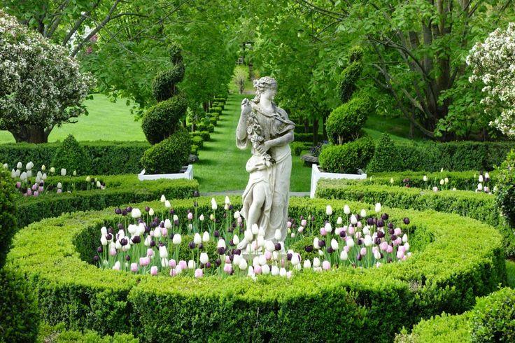 Caroline Roehm formal garden in CT