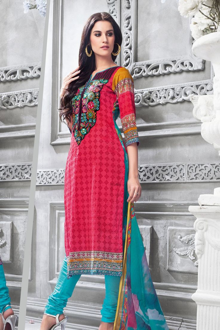 Red and Blue Cotton Salwar Kameez #casual #salwar #kameez @ http://zohraa.com/salwar-kameez/suits-dresses/casual.html #celebrity #zohraa #onlineshop #womensfashion #womenswear #bollywood #look #diva #party #shopping #online #beautiful #beauty #glam #shoppingonline #styles #stylish #model #fashionista #women #lifestyle #fashion