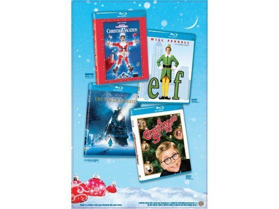 10 will win a National Lampoon's Christmas Vacation, The Polar Express, A Christmas Story and Elf Blu-rays. All worth $80.00 for each package!