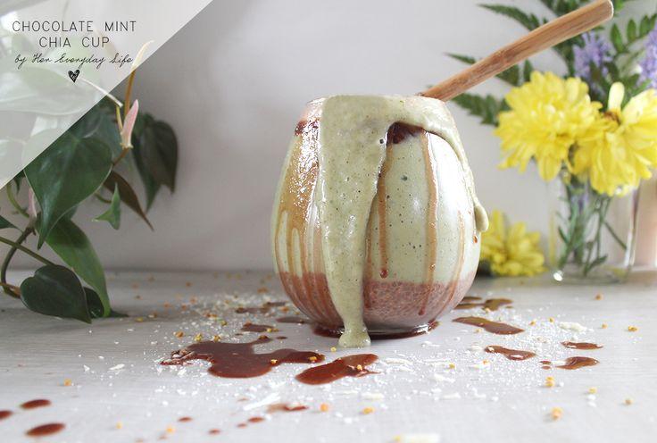 CHOCOLATE MINT CHIA CUP #healthyeating #vegan #breakfast #recipe