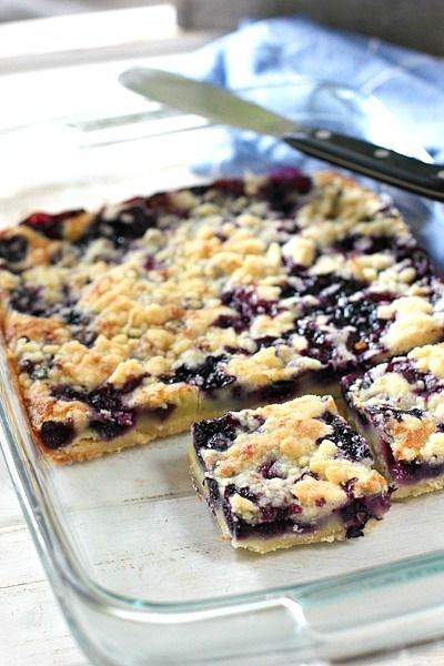 Blueberry Pie Bars by Laughing Spatula