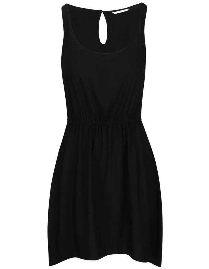 ONLY - Černé šaty stažené v pase  Geggo - 1