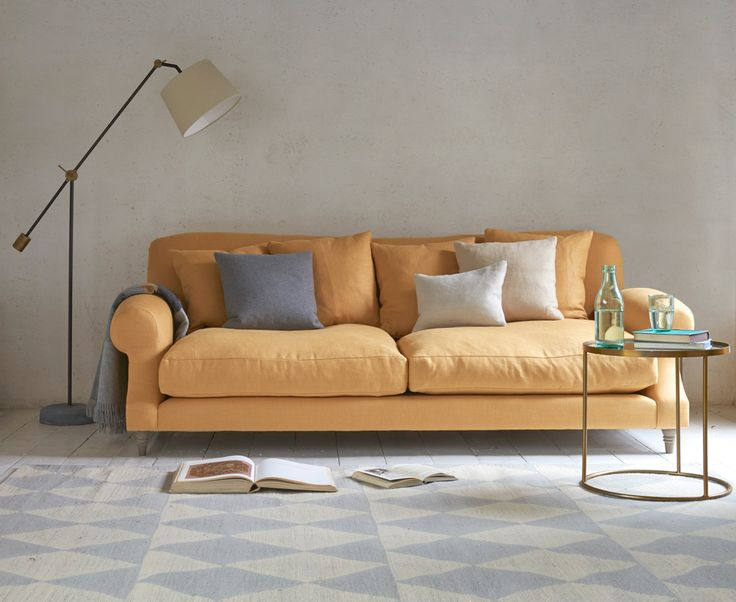 Crumpet sofa in our Straw classic linen