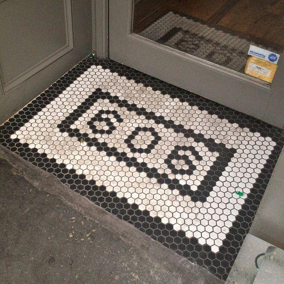 house number 606 hex floor tile black white   ENTRY   Pinterest. 17 Best images about Tile on Pinterest   Chevron tile  Black tiles