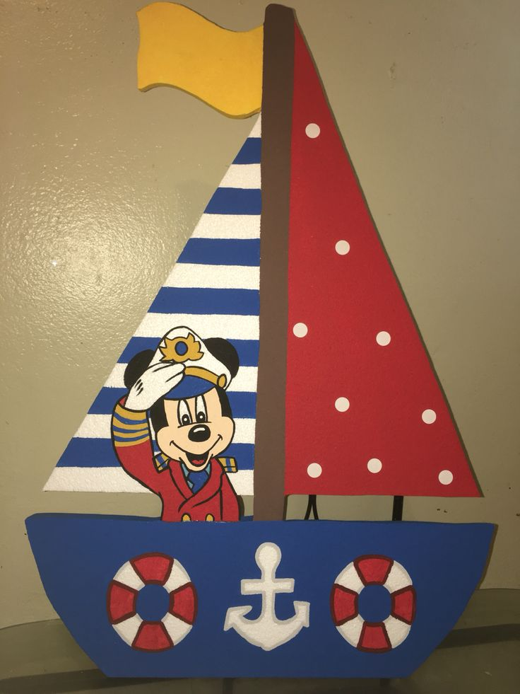 Mickey Mouse nautical sailor foam boat with Mickey captain ...