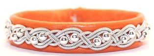 #Leather #bracelet with #Sterling Silver #pearls, from AC Design