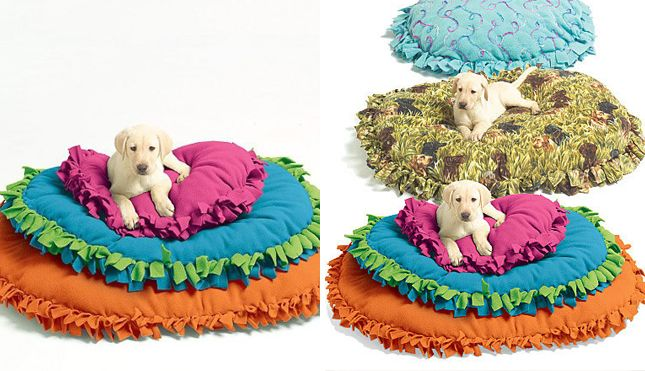 how to make a large dog bed without sewing 2