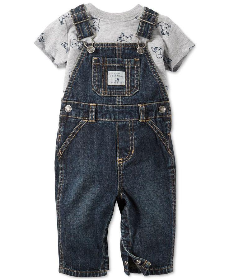 Carter's Baby Boys' 2-Piece T-Shirt & Overalls Set