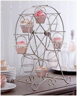8 чашки колесо обозрения колесо кекс стойка день рождения отель торт украшение свадьба башни купить на AliExpress