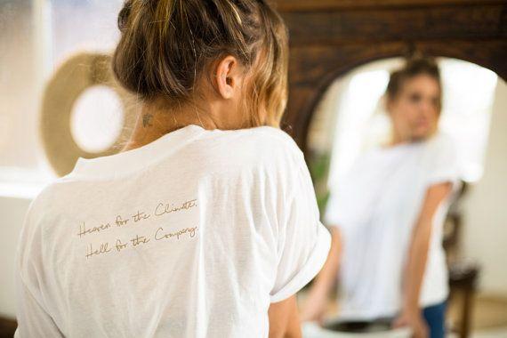 Heaven Tee Embroidered Tshirt White Tshirt