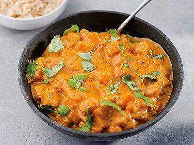 Verkeerd plaatje! Dit is een heerlijke (rode) curry met kip en zoete bataat