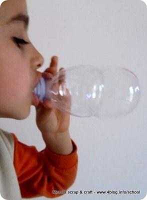blowing bubbles using a PET bottle