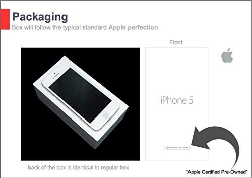 "Apple iPhone 5 - Smartphone libre iOS (pantalla 4"", cámara 8 MP, 16 GB, Dual-Core 1.3 GHz, 1 GB RAM), Blanco, Reacondicionado"