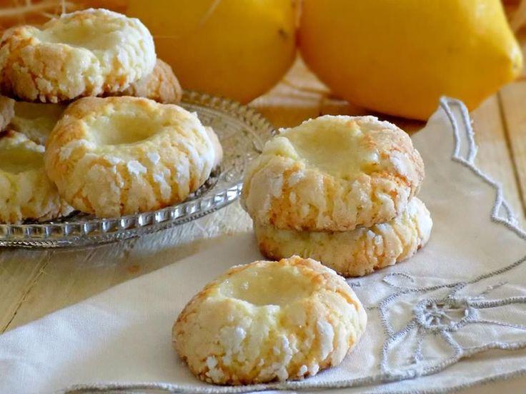 Limonotti con frolla al limone frullato e crema al limone