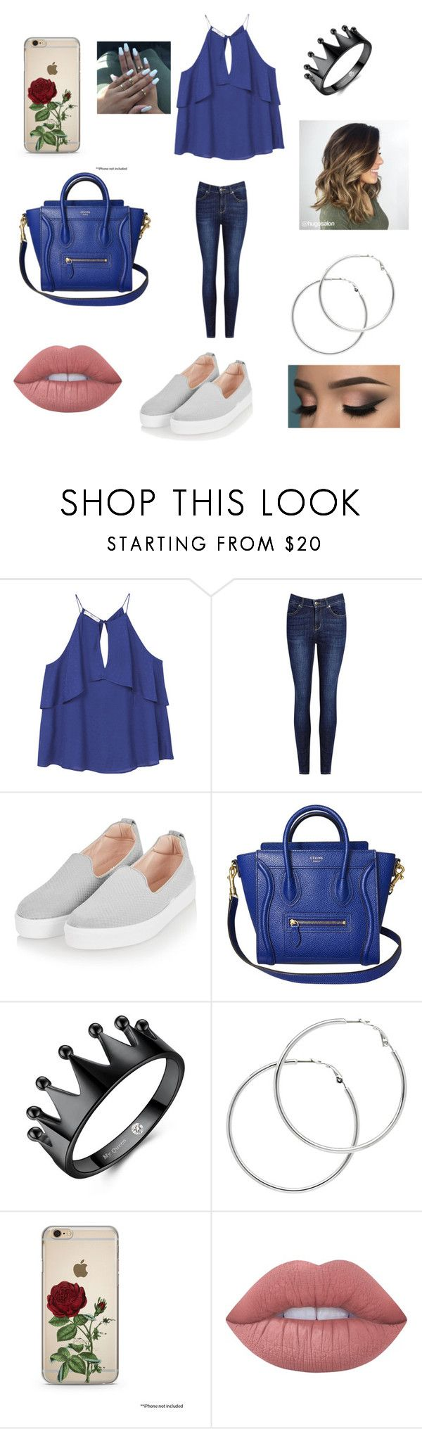 """""""party"""" by elsy25073 on Polyvore featuring moda, MANGO, Topshop, Melissa Odabash y Lime Crime"""