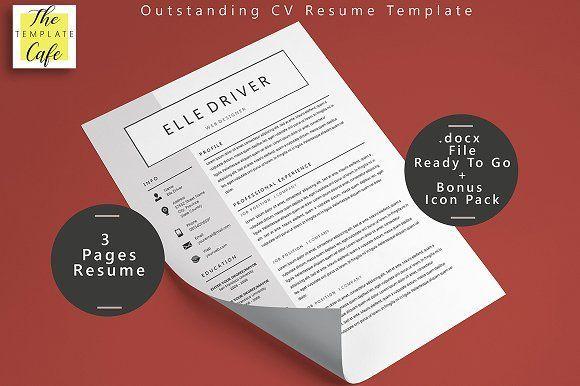 Simple Elegant Word Resume Template  @creativework247