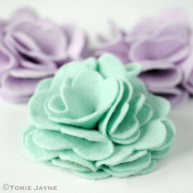 How to make felt rose flowers @ Torie Jayne                                                                                                                                                      More