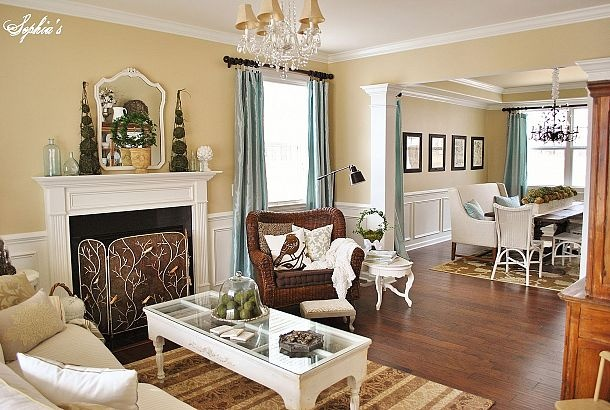 Living Room And Dining Room Tour Beautiful Colors And