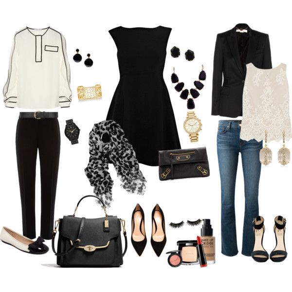 3 Day Conference by rhondamurphy on Polyvore featuring French Connection, Chloé, Alice + Olivia, STELLA McCARTNEY, Pied a Terre, J Brand, Gianvito Rossi, Rihanna For River Island, Alfani and Coach