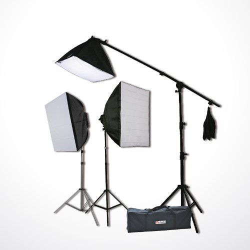 ePhoto Digital Photography Video Continuous Softbox Lighting Kit Photo Studio CFL Perfect Daylight Light Kit With BOOM STAND Hair LIGHTING KIT CARRY BAG H9060SB by ePhoto. $159.99. This set up uses professional quality materials and provides excellent results as a stand-alone unit. It will also integrate perfectly with any additional studio lighting or gels that you may want to use for portrait or product shooting. The high output light stand is height adjustable to give ...