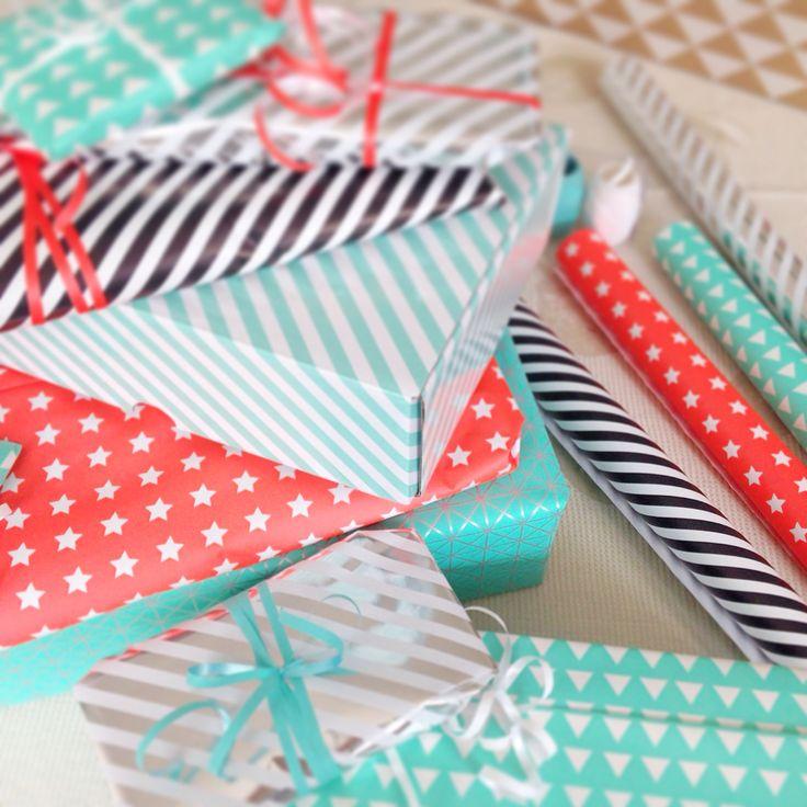 Paquets cadeaux colorés #cadeaux #gift #birthday #mode