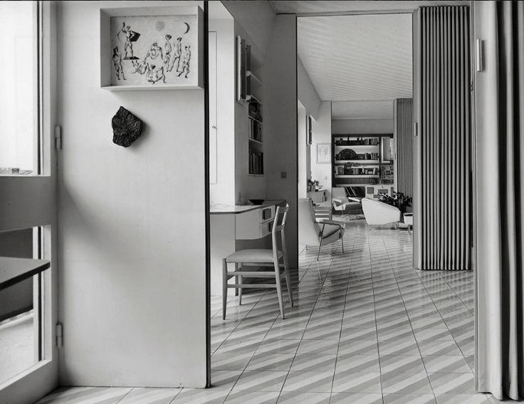 design-is-fine: Gio Ponti, focus on the chair Superleggera, 1950s. This was the home of the architect in via Dezza. © Gio Ponti Archives, Milano