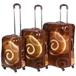 heys usa 3 piece hardside spinner luggage set