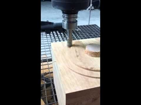 Milling wooden piece with Kuka robot and SprutCAM