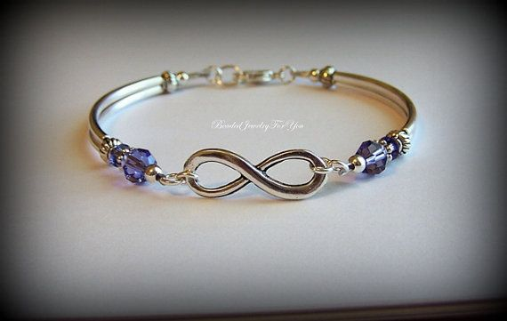 Tanzanite Infinity Bracelet: Infinity Symbol Jewelry, Bridal Jewelry, Infinity Knot Bracelet, Jewelry for Bride, Infinity Friendship Jewelry on Etsy, $24.99