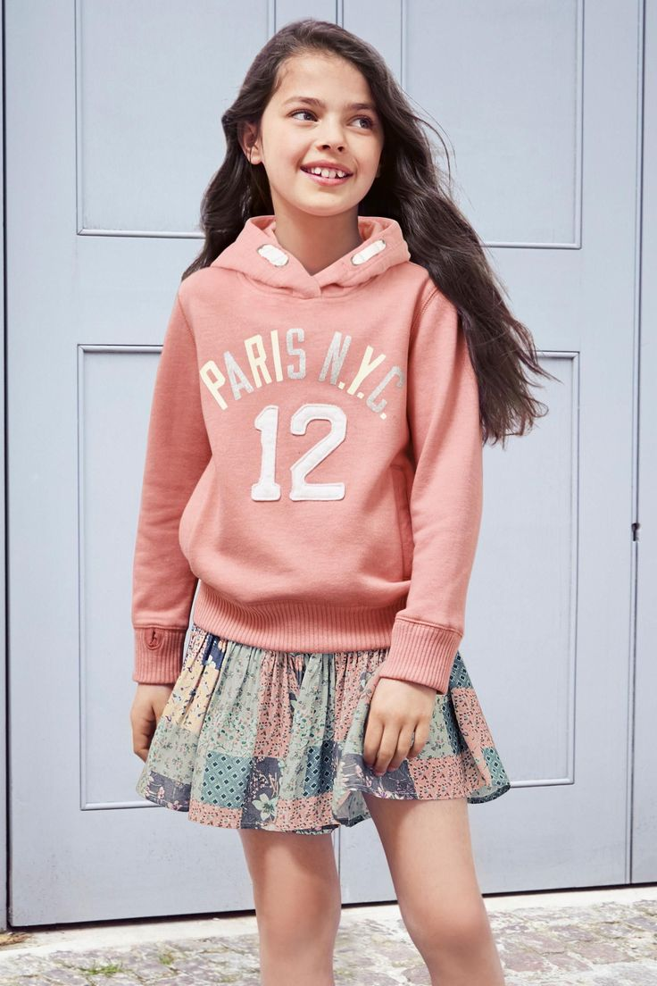 Pink Graphic Overhead Hoody, Print Skort for Girls (3-16yrs) from the Next UK online shop