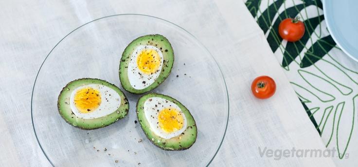 Avocado with egg for starter :)