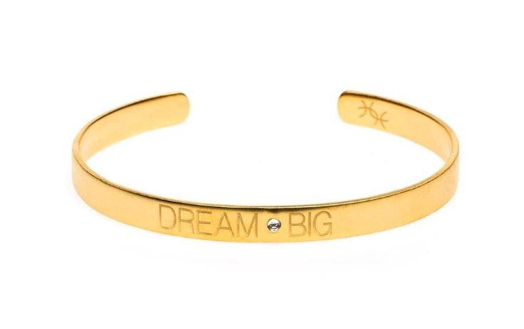 Power Quote DREAM BIG Bracelet - HeidisHoff.no #bracelet #dreambig #quote #jewelry