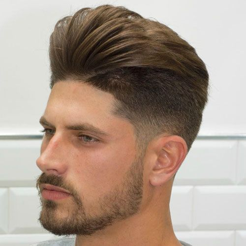 Classy Hairstyles - Low Taper Fade with Pompadour